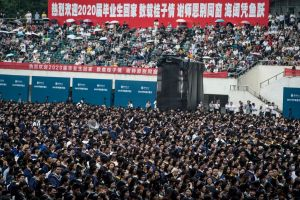 Nearly 9000 graduates attending a graduation ceremony at Central China Normal University in Wuhan, on June 13, 2021.