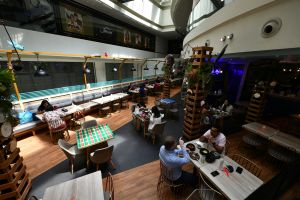 Dining in at eateries had resumed on June 21, but in groups of up to two people.
