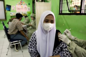Jakarta has begun inoculating 100 young people aged 12 to 17.