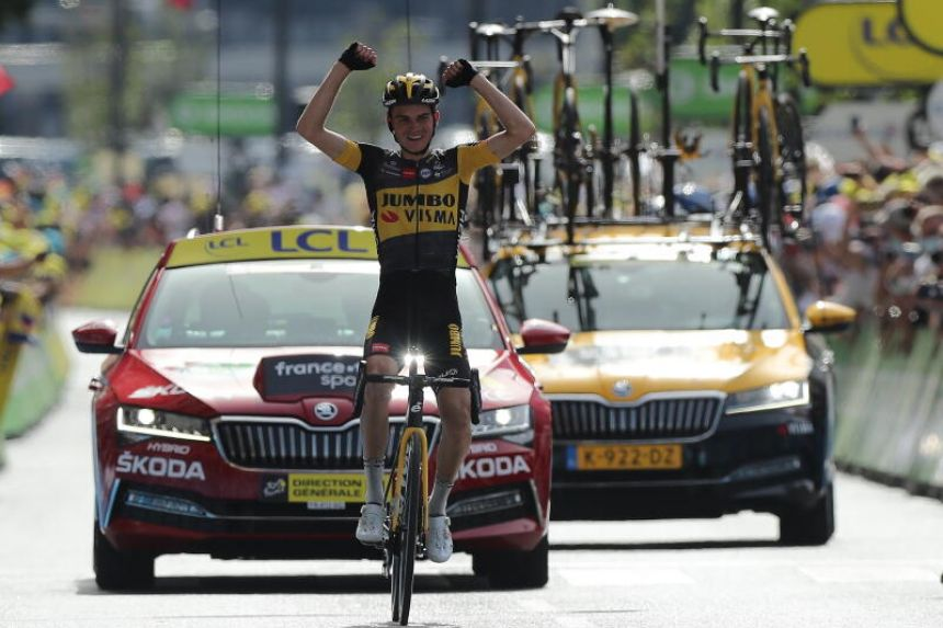 Jumbo-Visma rider Sepp Kuss of the United States claimed his maiden victory on the Tour de France with a solo ride in the 15th stage. (July 11)