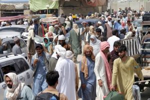 Many Afghans have already set out for Pakistan to the east and south.