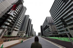 Part of the Olympic Village in Tokyo built to house athletes during the Games. A Covid-19 case was detected in the village on July 16, 2021.