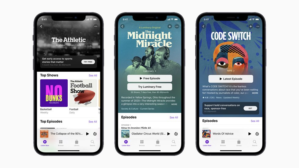 Apple Podcasts Subscriptions