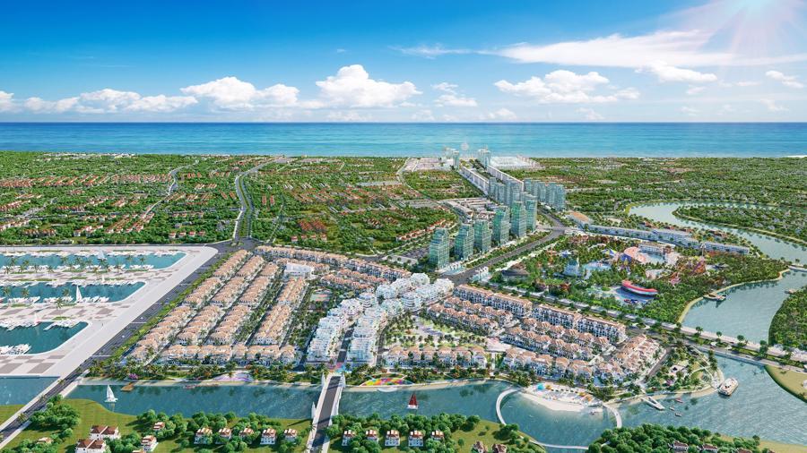 Sun Riverside Village tọa lạc tại vị trí phong thủy đắc lợi, thuận tiện di chuyển đến bãi biển Sầm Sơn hay TP. Thanh Hóa. Ảnh phối cảnh minh họa.