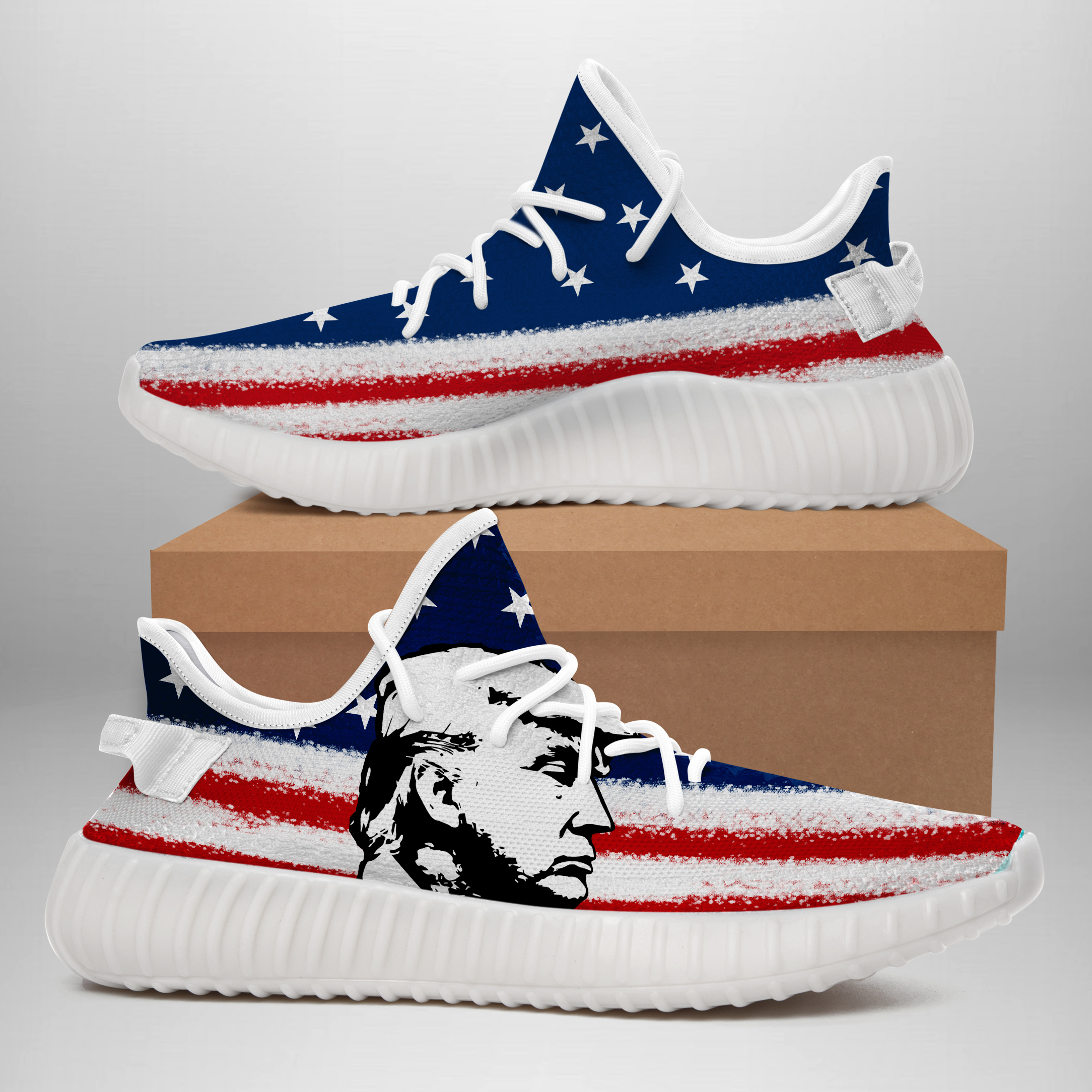 Trump American Flag Yeezy CC - BuzzAZone