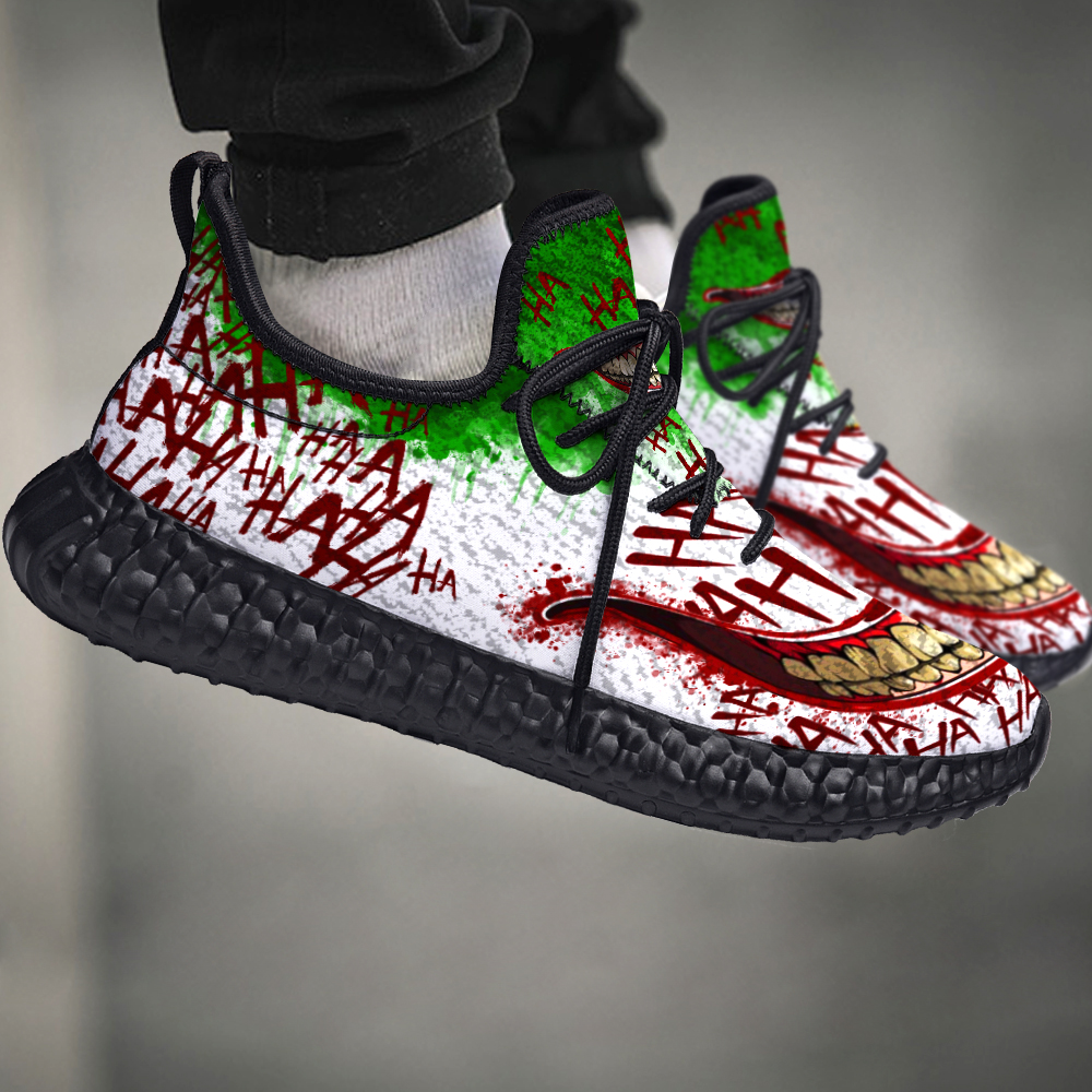JOKER WHY SO SERIOUS YEEZY BLACK AND WHITE