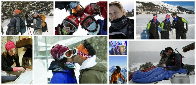 Collage of the global snow sports community using Buff®
