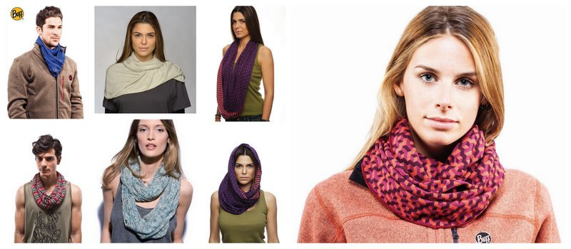 People wearing the Infinity Buff® in Eco, Lyocell and Merino Wool