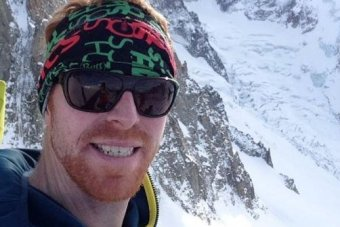 Ian McIntosh wearing a Original Buff® as ear-warmer / headband somewhere in acold, snowy mountain area