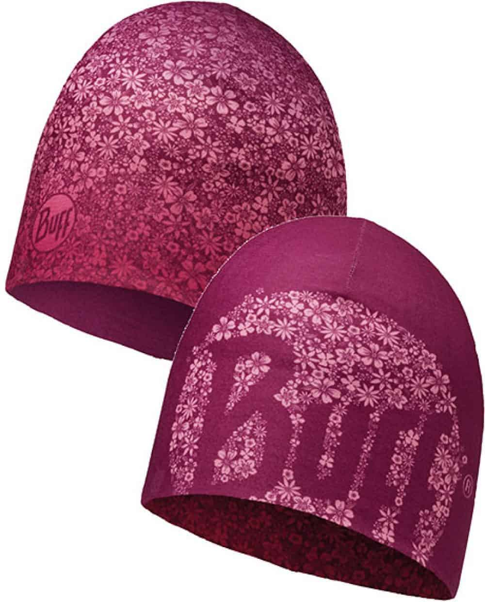"Composite Image of the Microfiber Reversible Hat Buff® design ""Yenta / Pink"""