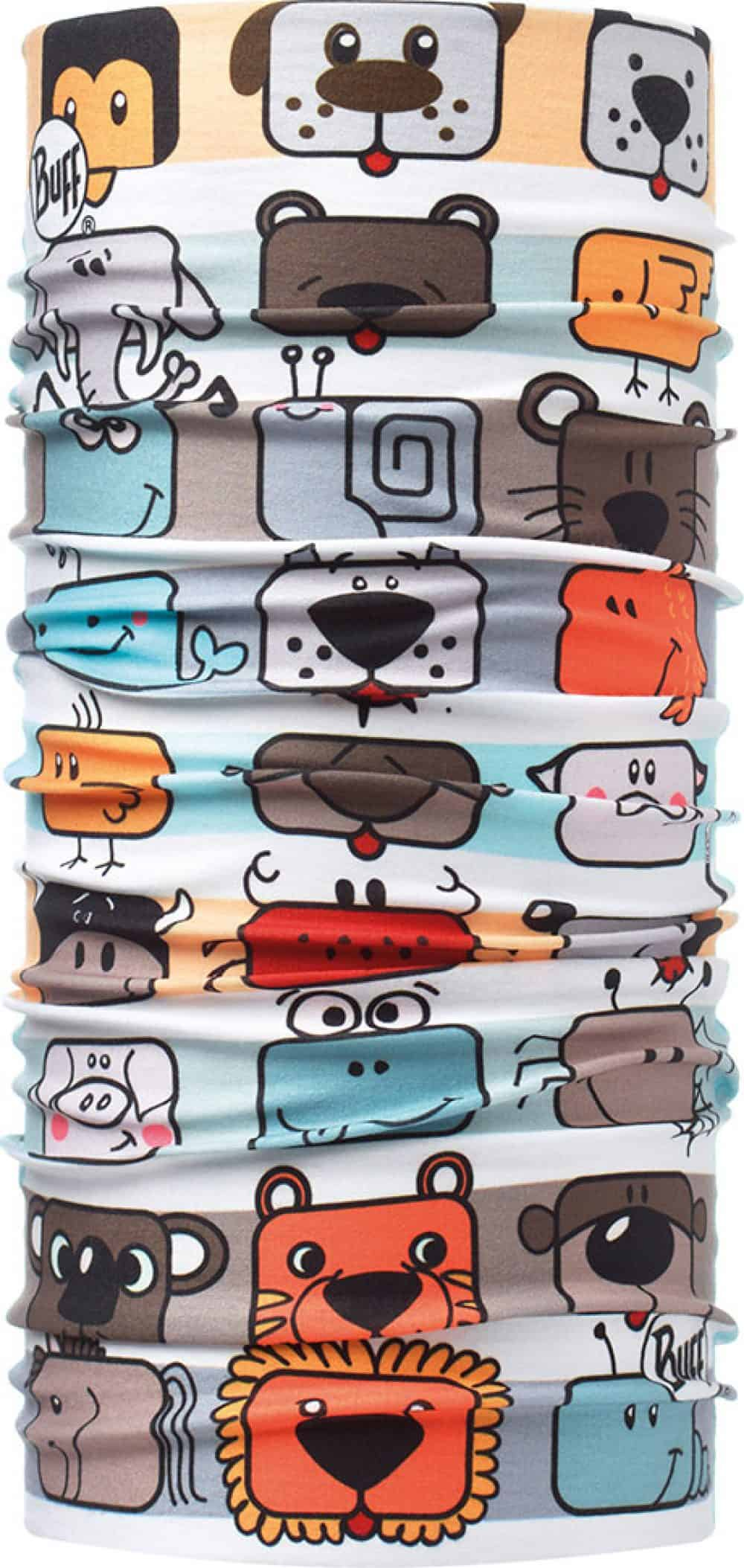 """Studio photo of the Professional range Dry Cool Buff® Medical Collection design """"Happy Animals"""". Source: buff.eu"""