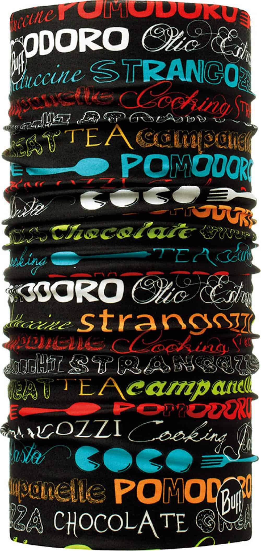 "Studio photo of the Professional range Dry Cool Buff® Chefs Collection design ""Pomodoro"". Source: buff.eu"