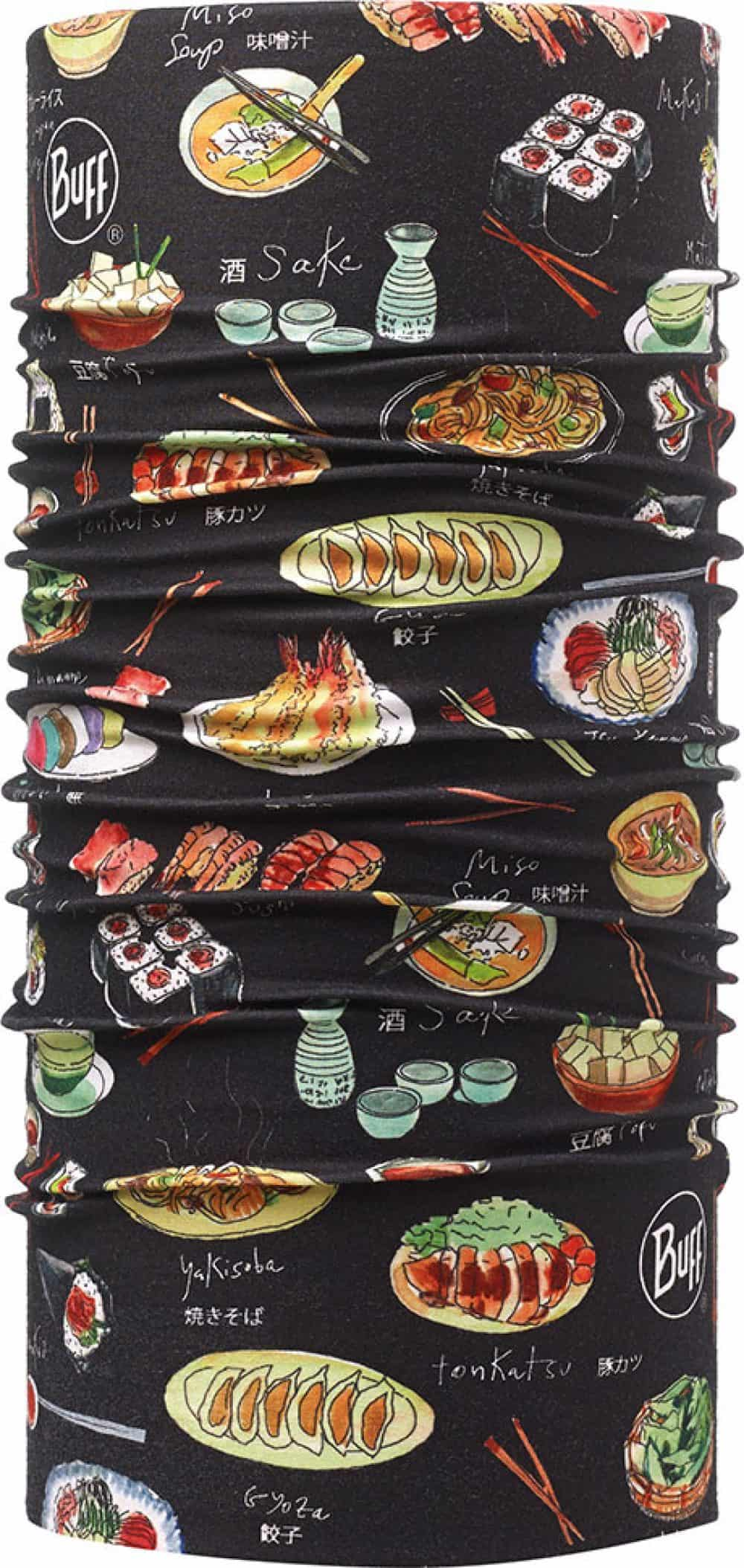 "Studio photo of the Professional range Dry Cool Buff® Chefs Collection design ""Japonice Black"". Source: buff.eu"