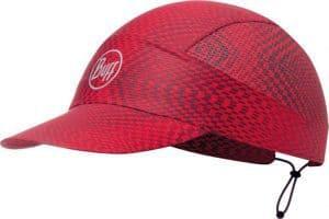"""A studio photo of the Buff® Pack Run Cap design """"Jam Red"""". Source: buff.eu"""