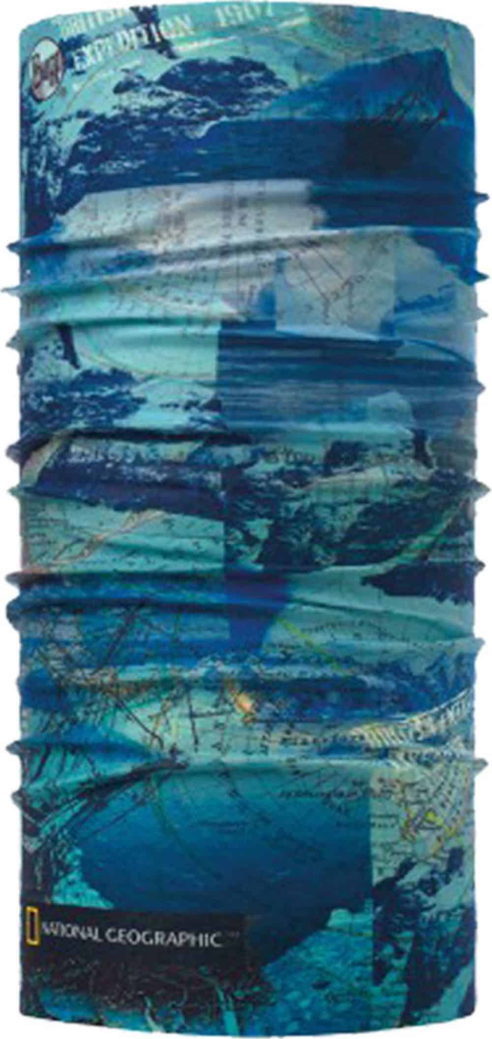 Studio photo of Original Buff® National Geographic collection design Antarctic Ocean Blue. Source: buff.eu