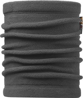 "A studio photo of the Neckwarmer Buff® design ""Grey"". It's a solid grey fleece colour. Source: buff.eu"