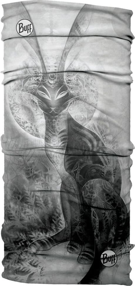 "Studio product photo of the Original Buff® design ""AJ Black Rabbit"". It's a digital print of artwork by Android Jones. Source: buff.eu"