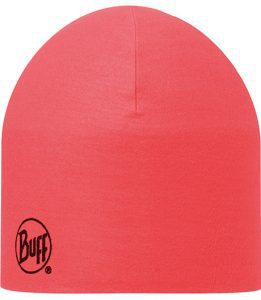 "A studio photo of the 203069 Pro Thermal Hat ""Red Fluor"". Source: buff.eu"