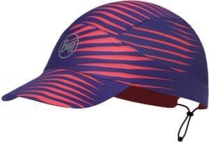 "Studio photo of the Pack Run Cap design ""Optical Pink"". Source: buff.eu"