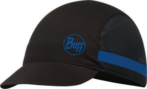 "A studio photo of the Pack Bike Cap design ""Mika Black"". Source: buff.eu"