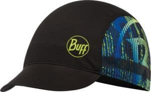 "A studio photo of the Pack Bike Cap design ""Effect Logo"". Source: buff.eu"