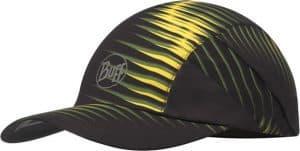 "Studio photo of the Pro Run Cap design ""Optical Yellow"". Source: buff.eu"