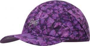 "Studio photo of the Pro Run Cap design ""Adren Purple Lilac"". Source: buff.eu"