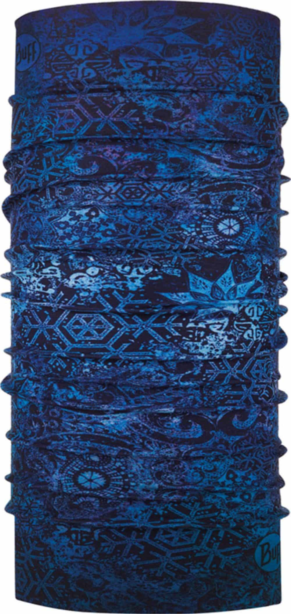 "Studio photo of the Original Buff® Design ""Fairy Snow Night Blue"". Source: buff.eu"