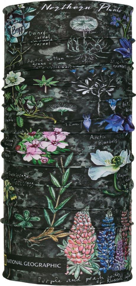 "Studio photo of the Original Buff® Design ""Artic Flowers Grey"". Source: buff.eu"