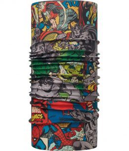 "Studio photo of the Original Buff® design Marvel Collection ""Superheroes"". Source: buff.eu"