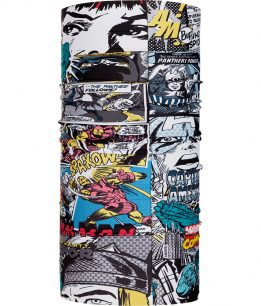 "Studio photo of the Original Buff® design Marvel Collection ""Pop Power"". Source: buff.eu"