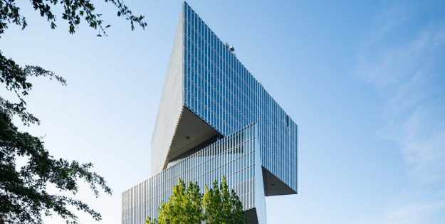 Buitengevel nhow Amsterdam RAI geheel gesloten