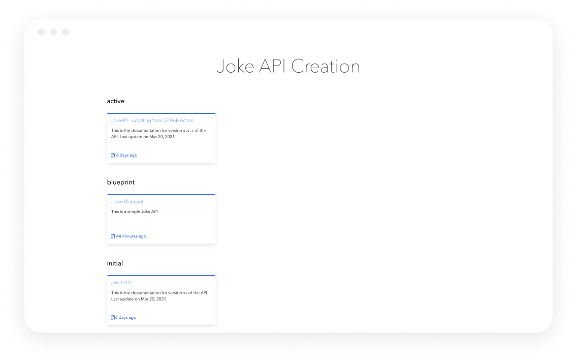 Bump Joke API hub by category screen