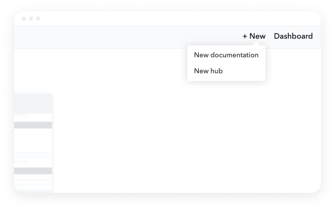 New hub menu screen