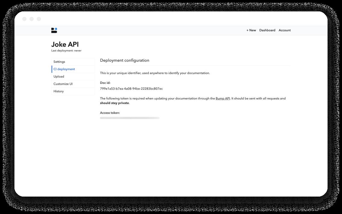 Bump documentation settings screen