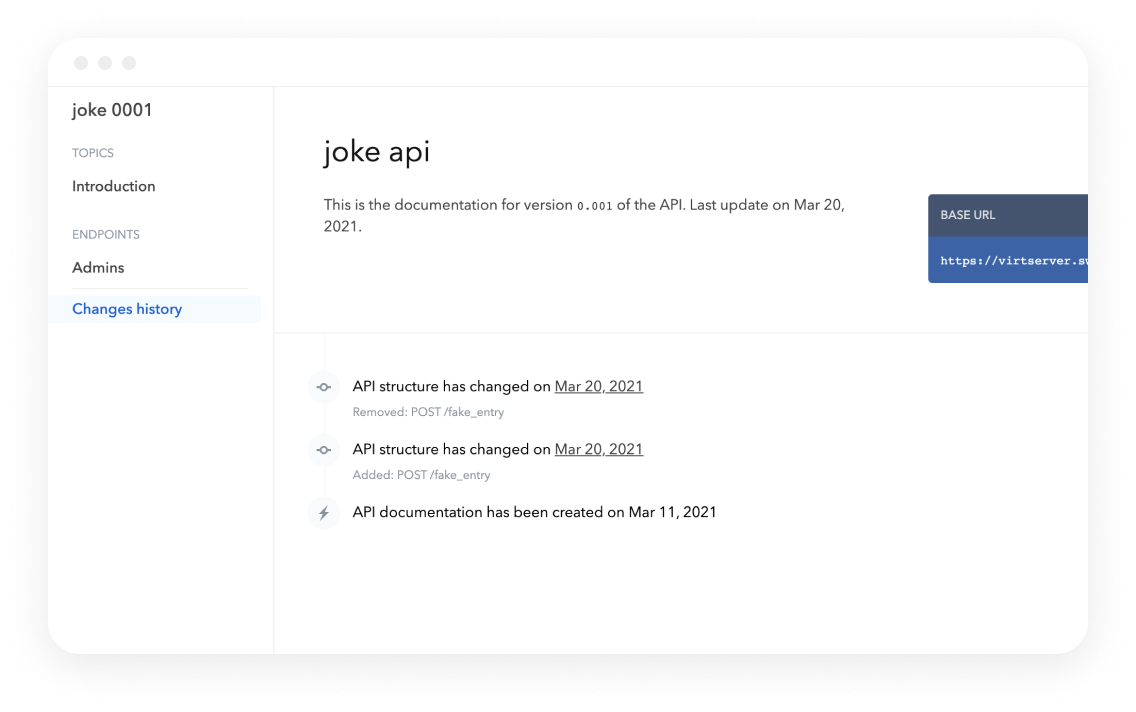 Bump Joke API changelog updated screen