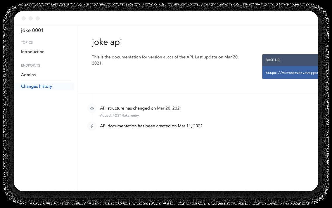 Bump Joke API changelog