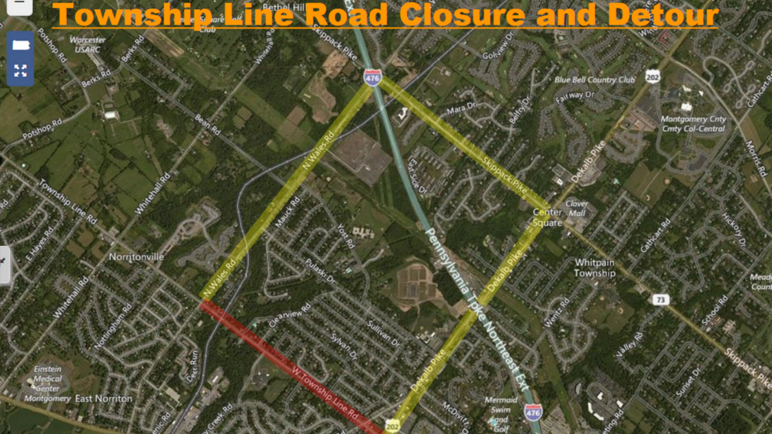 Township Line Road Bridge Work to Start Tuesday - Road Will