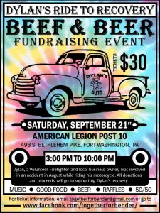 Dylan's Ride to recovery Beef and Beer Fundraising Event