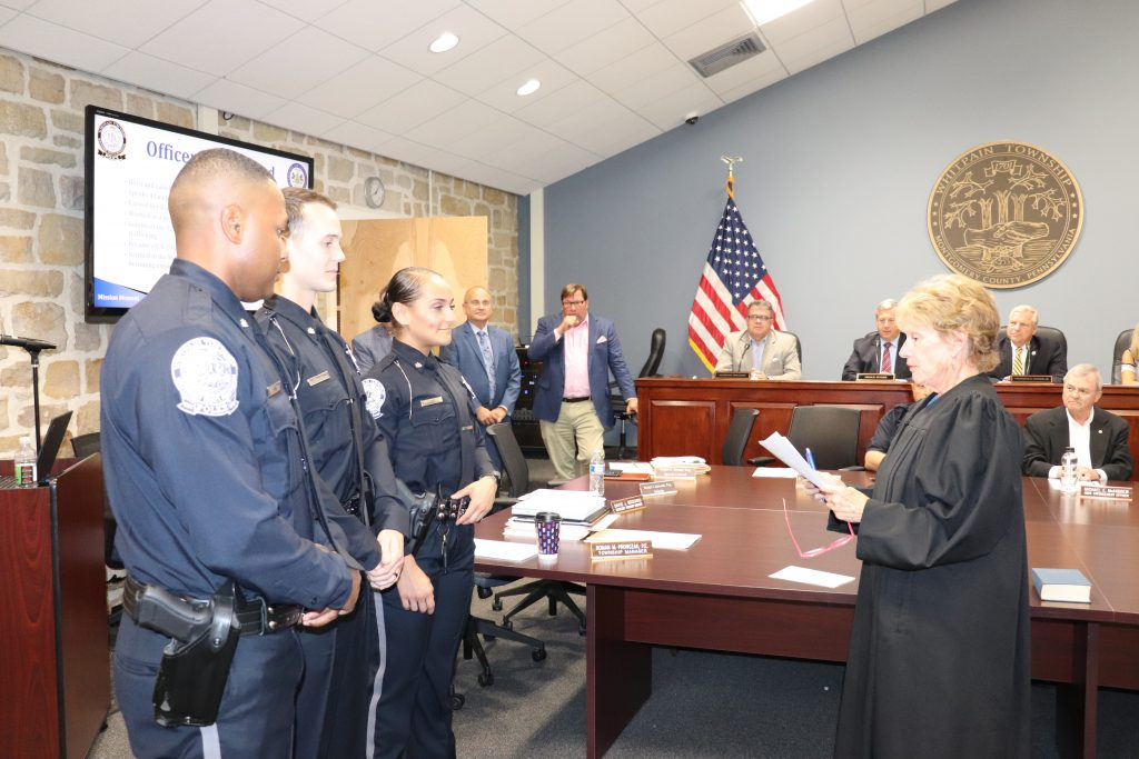 Photos and a Look Inside Whitpain Township Police