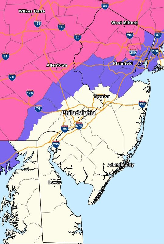 Weather Map Local.Cheltenham Township Emergency Management Weather Map January