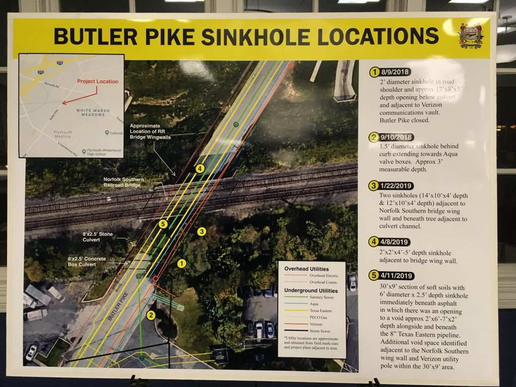 Map Shows Extent of Sinkhole Issue on Portion of Butler Pike