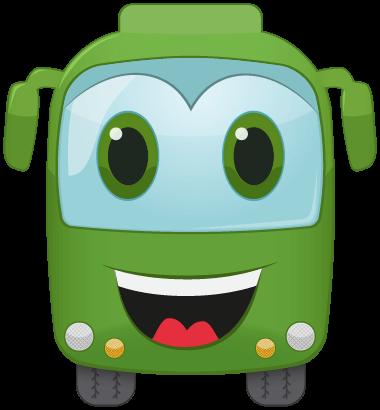 Mascote do BuscaOnibus: Um ônibus sorrindo