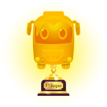Ilustração de troféu de primeiro lugar