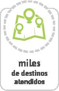 Cobertura de más de 3.000 destinos de viajes de bus por Brasil y países de América del Sur