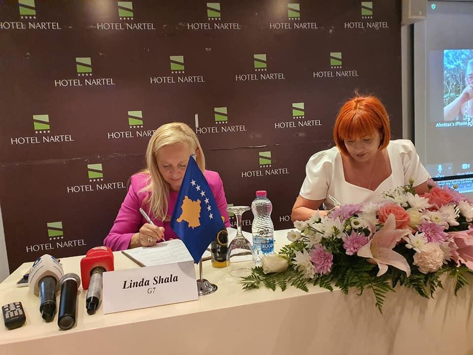 Shqipëri-Kosovë, gratë ne biznes, sipërmarrje, marreveshje, bashkepunim, panair, trajnim, Antonela Hako, Linda Shala,