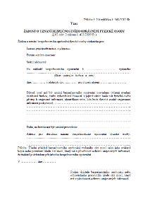 Uznávání bezpečnostních oprávění vydaných úřadem cizí moci – Národní bezpečnostní úřad (NBÚ)