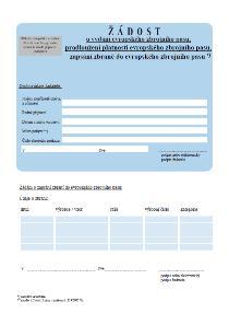Evropský zbrojní pas – žádost o vydání, o prodloužení, o zapsání zbraně – Ministerstvo vnitra (MV)