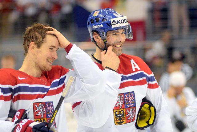 Jaromír Jágr na mistrovství světa v hokeji v Minsku
