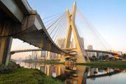 Most Estaiada v Sao Paulu, Brazílie